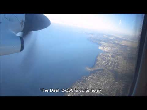 Air Canada Dash 8-300 landing @ Seattle-Tacoma (Sea-Tac) Airport