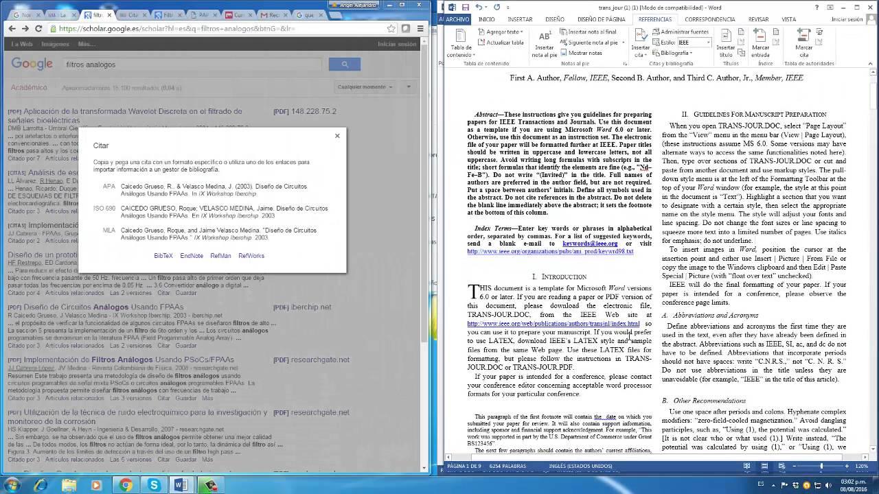Informe en Formato IEEE - YouTube