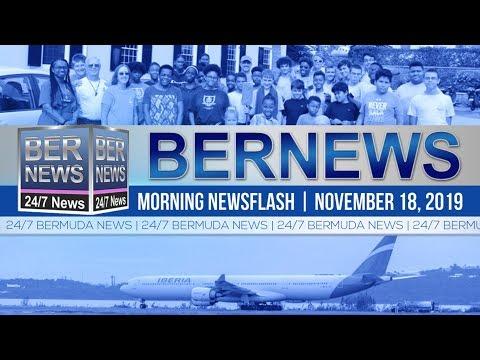 Bermuda Newsflash For Monday, November 18, 2019