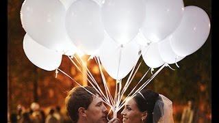 Светящиеся шары на свадьбу - Воздушный Креатив