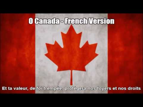 O Canada - French Version of National Anthem in Nightcore Style With Lyrics