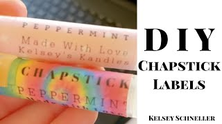 Chapstick Labels// For FREE