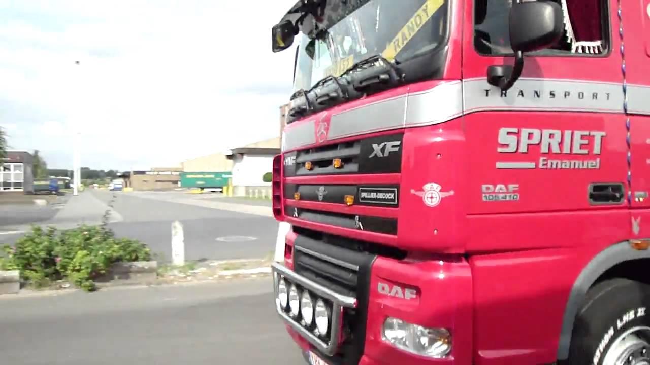 Vertrek emmanuel spriet @ lar voor trucks4life; filmed by trucks4life.be
