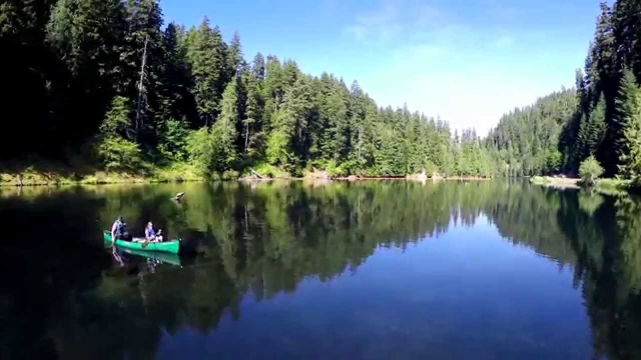 Lake Harriet in the Mount Hood National Forest - YouTube