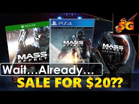 Mass Effect Andromeda NEWS! ON SALE FOR $20??? Fastest Price Drop for Mass Effect Game yet!!