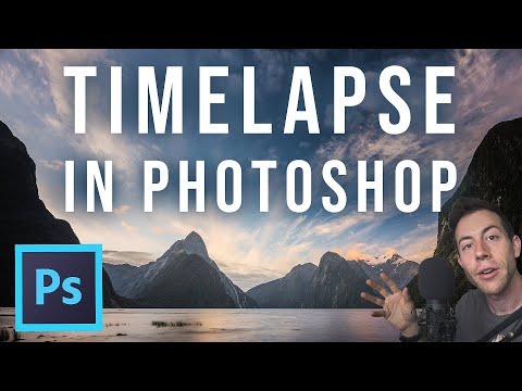 HOW to create a TIMELAPSE in Adobe Photoshop