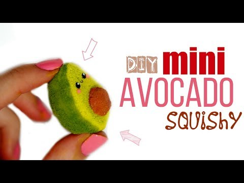 DIY MINI AVOCADO SQUISHY   Memory Foam & Puffy Paint