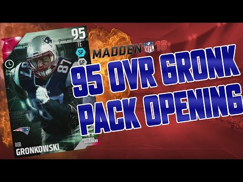 FOOTBALL OUTSIDERS ROB GRONKOWSKI PACK OPENING! -Madden 16 Ultimate Team