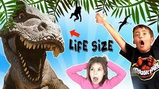 DINOS ALIVE Jurassic Dinosaur Park w/ Animatronic REAL DINOSAURS Kids Adventure + Toys