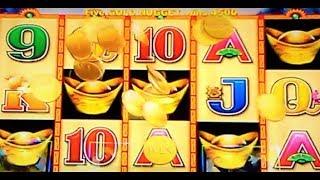 A TALE OF TWO FIVE SYMBOL TRIGGERS: 5 DRAGONS GOLD & CHOY SUN JACKPOTS 1c SLOTS * BIG BONUS WIN!