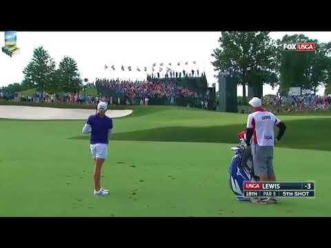 SHOCK! Golf Star Stacy Lewis Hits Back to Back Chunks! 2017 US Women's Open USGA LPGA