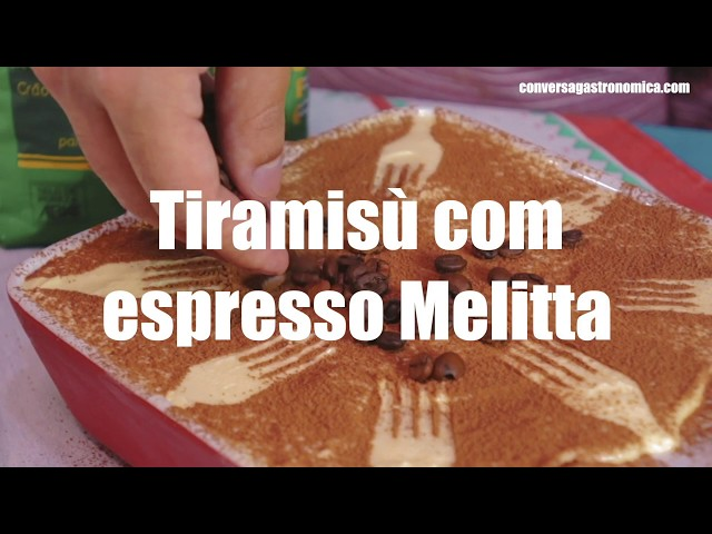 Tiramisú com espresso Melitta | Natal Melitta