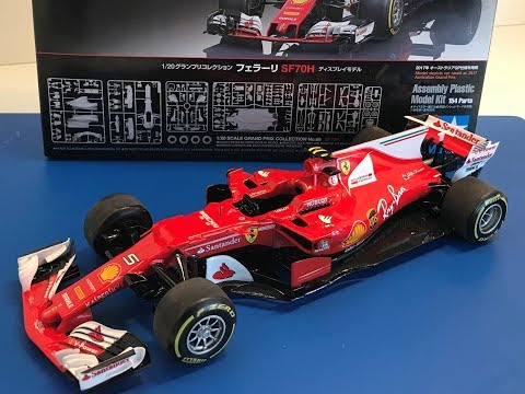 Building the New Tamiya 1/20 FERRARI  SF70H Formula One