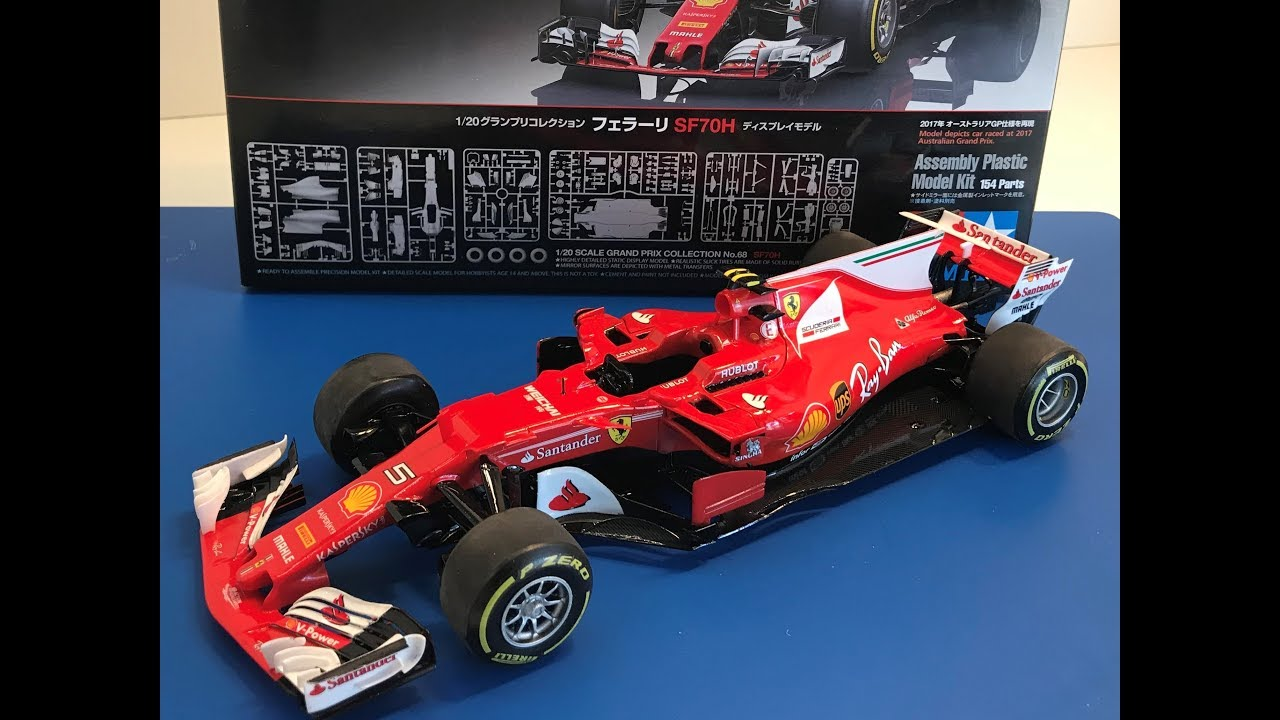 Building the New Tamiya 1 20 FERRARI SF70H Formula One   YouTube Building the New Tamiya 1 20 FERRARI SF70H Formula One