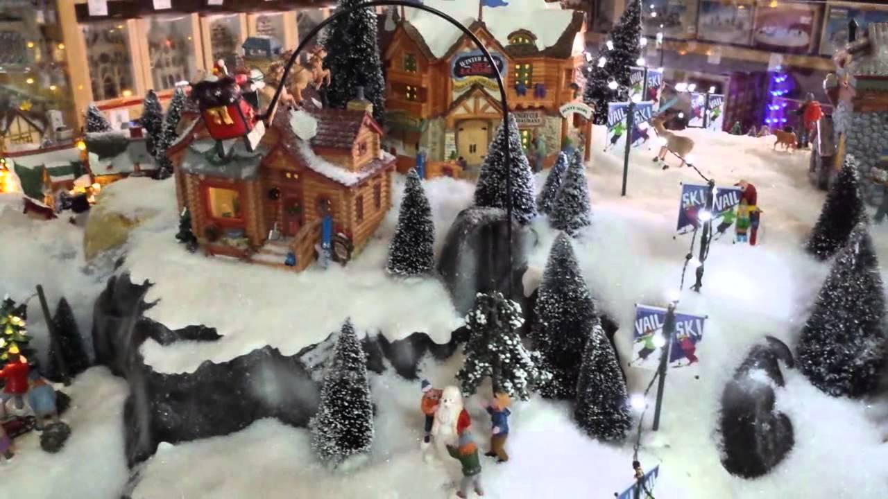 Villaggio natalizio in miniatura in movimento  YouTube