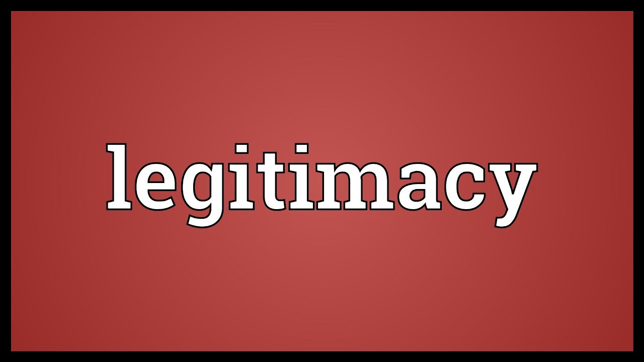 forms of legitimacy