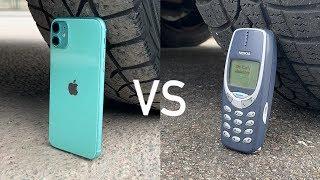 iPhone 11 vs Nokia 3310 vs CAR...