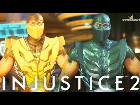 "THE BEST SCORPION & NOOB SAIBOT KLASSIC GEAR - Injustice 2 ""Sub-Zero"" Gameplay (Epic Gear)"