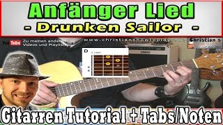 "Gitarren Anfänger Lied: ""What shall we do with the drunken sailor"" Em und D gitarren tutorial"