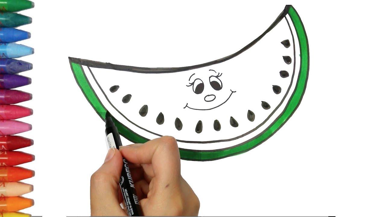 Un Cocomero Come Disegnare E Colora Per I Bambini Youtube