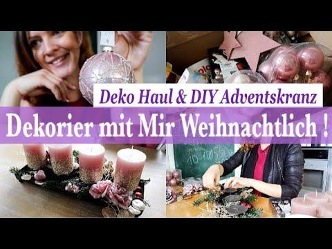 ENDLICH Weihnachten! DEKORIER MIT MIR   Weihnachtsdeko DEKO HAUL & DIY Adventskranz   Depot Haul