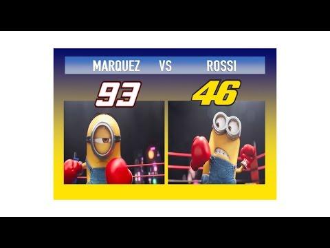 MARQUEZ VS VALENTINO IN VERSIONE MINIONS N°2