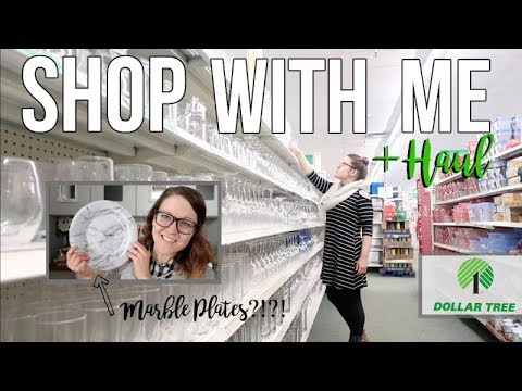 DOLLAR TREE MARBLE PLATES | SHOP WITH ME & HAUL | REORGANIZED DOLLAR TREE 2019!!!
