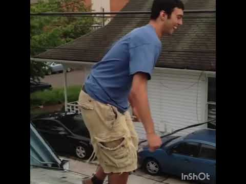 Drunk Guy JUMPS off roof!!