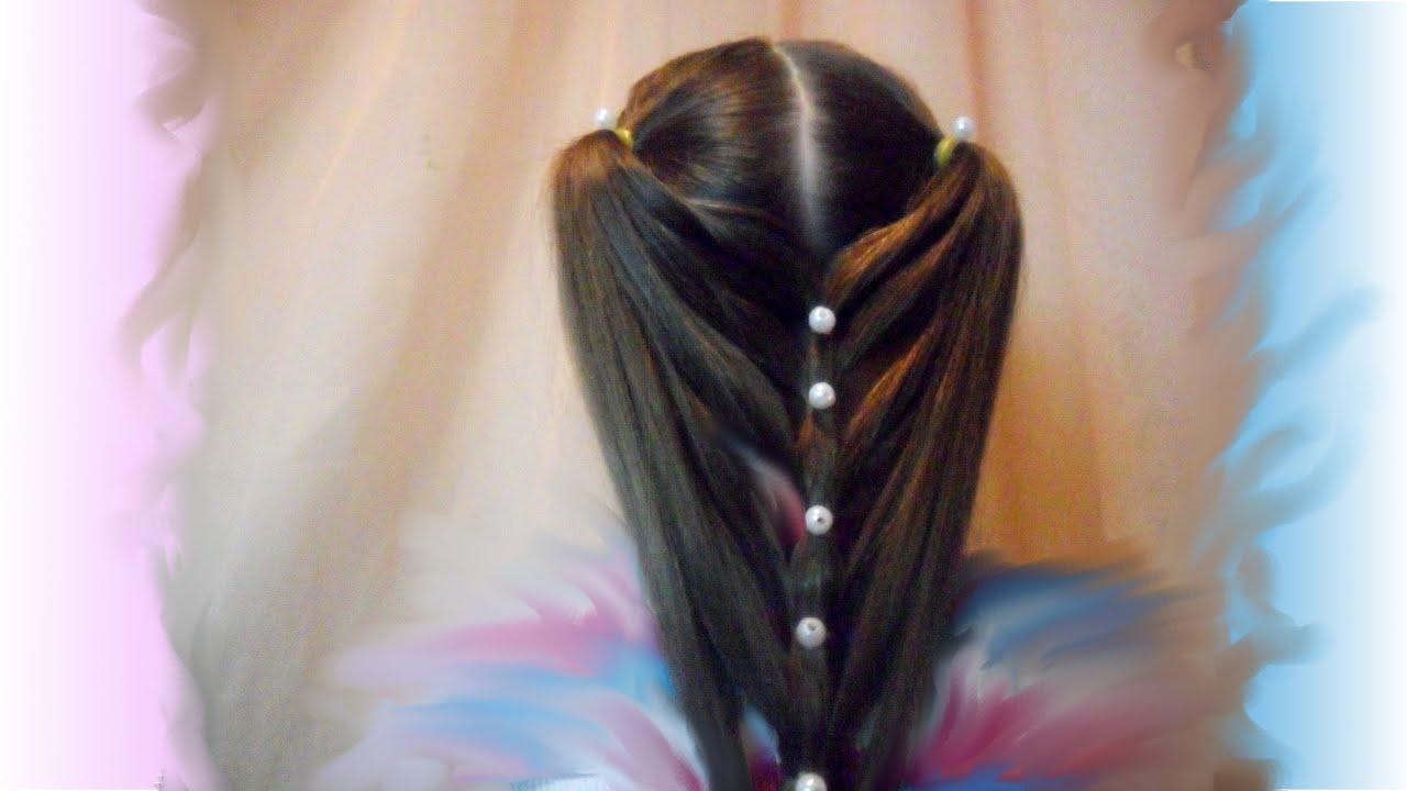 Прическа из заплетенных волос