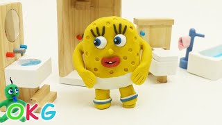 Spoiled Baby SpongeBob Morning Activity Video play doh Kids stop motion thumbnail
