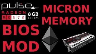 BIOS Mod: Sapphire Pulse RX570 8G MICRON for Ethereum AMD Radeon GPU Mining