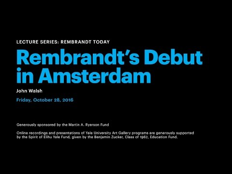 Rembrandt's Debut in Amsterdam