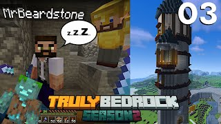 The One Chunk Wizards Tower | Server Drowned By Beardstone | Truly Bedrock S2 EP3