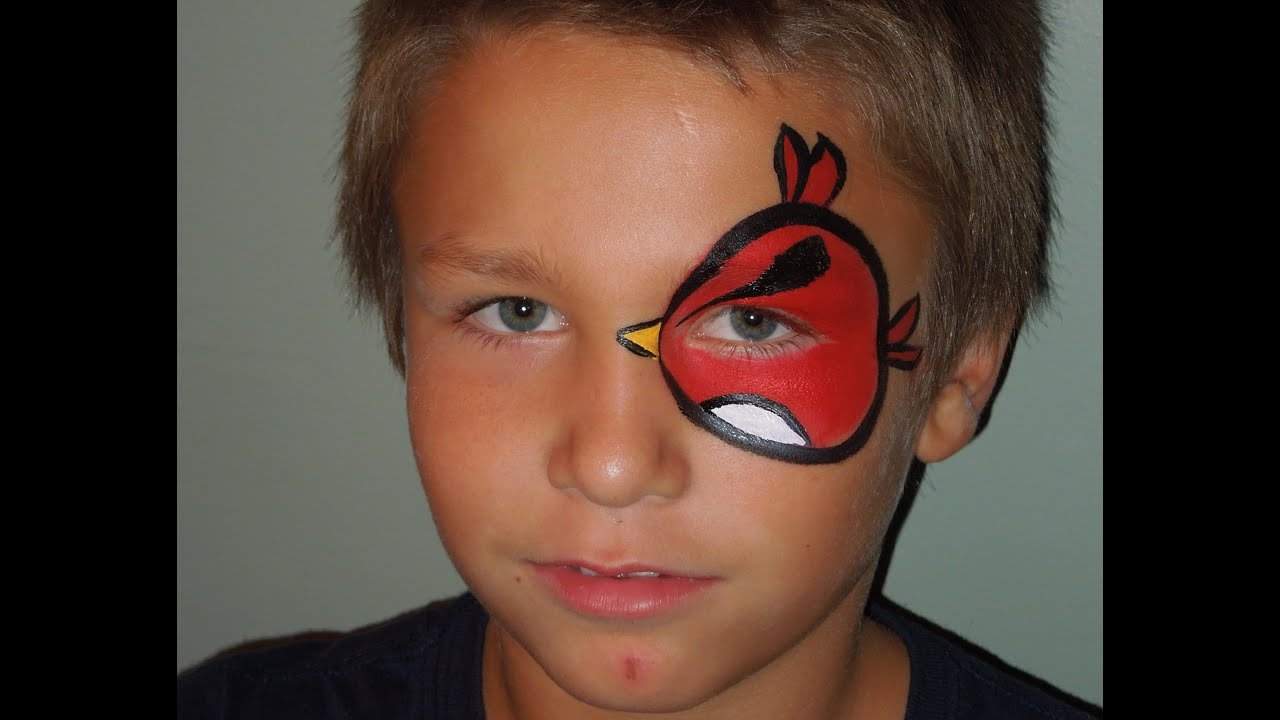 Angry Bird Eye Face Painting | Marvelous Masks Chicago Face ...