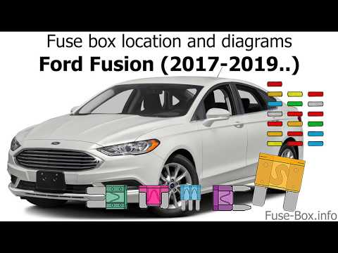 Fuse box location and diagrams: Ford Fusion (2017-2019..) - YouTubeYouTube