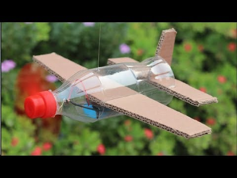 how to make airplane by bottle | helicopter DC motor | DIY home made
