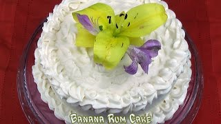 Banana Rum Cake - Puerto Rican