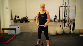 Exercise Demo: Kettlebell Hop-Back Deadlift