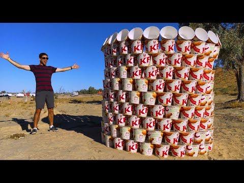 GIANT KFC BUCKET BUILD! (500 BUCKETS)