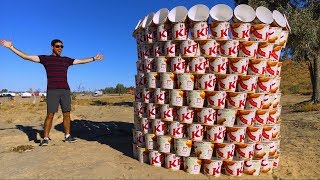 GIANT KFC BUCKET BUILD! (500 BUCKETS)