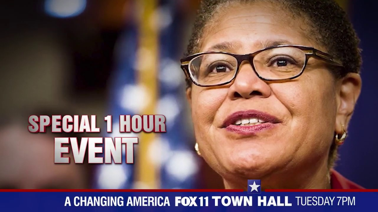 A Changing America: FOX 11 Town Hall with Representative Karen Bass, Tuesday June 30th at 7pm.
