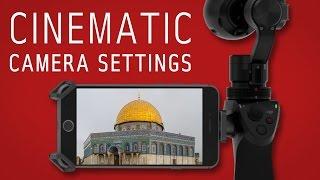 DJI Osmo | Best camera settings | Shutter Speed, ISO, Frame Rate, Anti Flicker, more