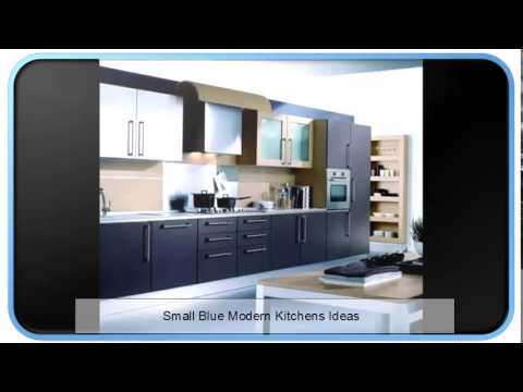 Small blue modern kitchens ideas youtube for Small kitchen ideas youtube