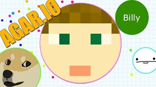 AGARIO LET MY FACE EAT YOU - I DID IT! (Agar.io)