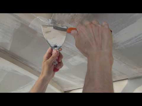 Подготовка потолков к покраске своими руками видео
