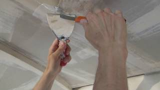Подготовка потолка из гипсокартона к покраске видео Как шпаклевать стыки гипсокартона ГКЛ