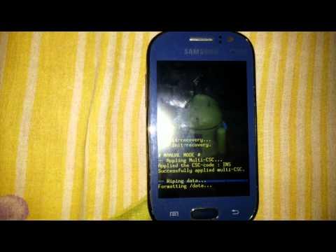 Samsung galaxy fame S6812 hard reset