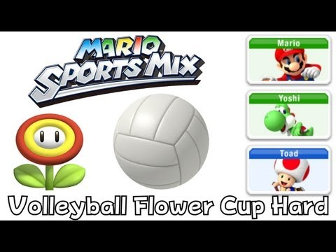 Mario Sport Mix - Volleyball - Flower Cup Hard