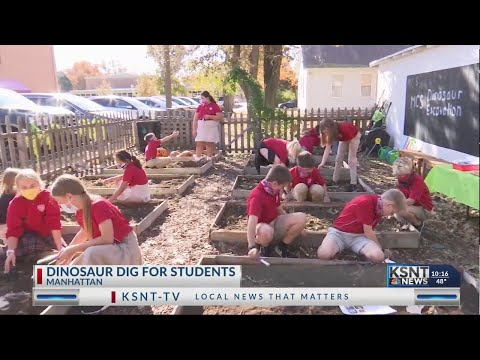 Dino Week gets kids outside and hands on with fossils at Manhattan Catholic School