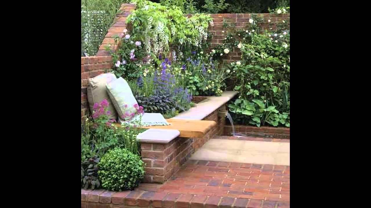 Small walled garden design - YouTube